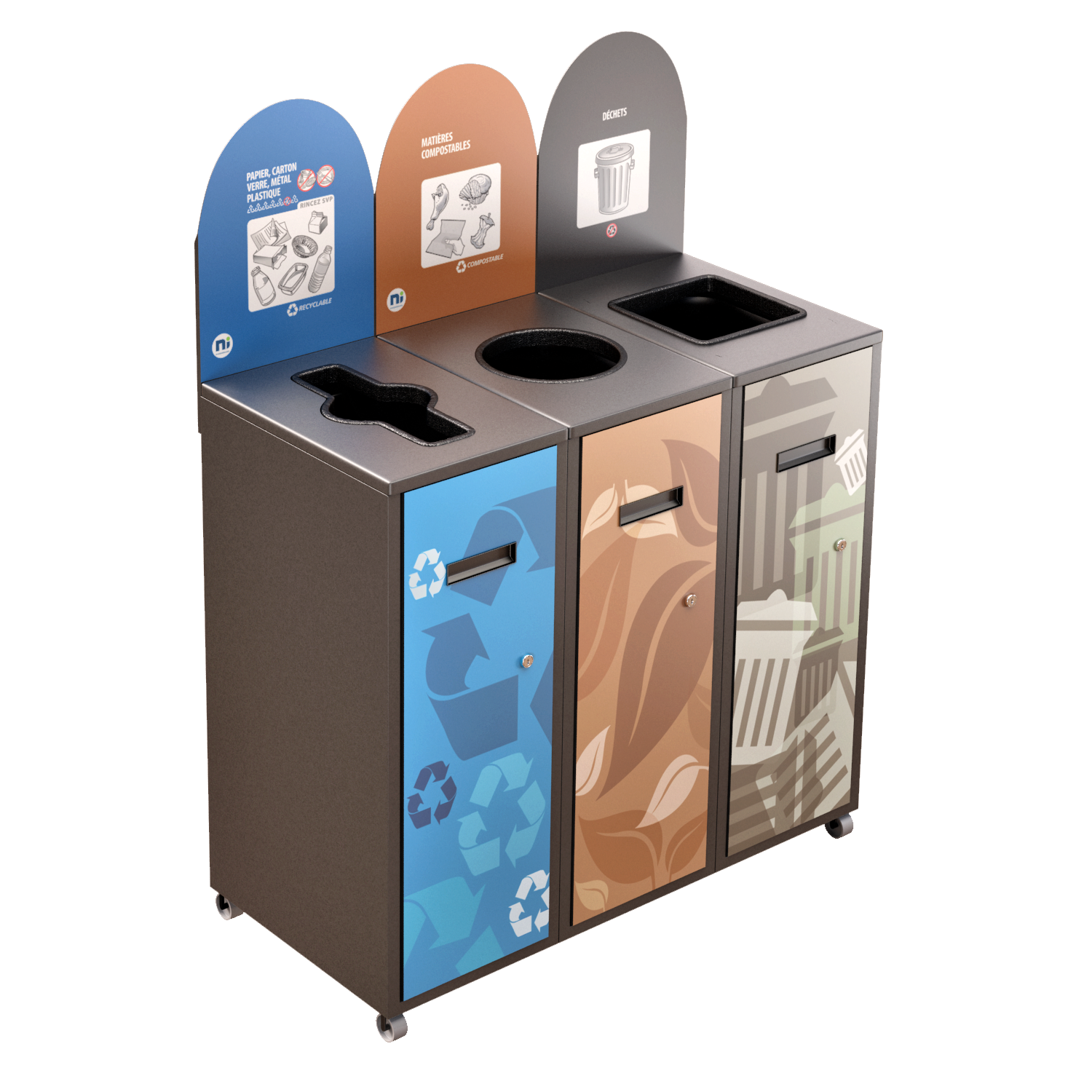 Recycling Station MultiPlus 3 x 58 Liters