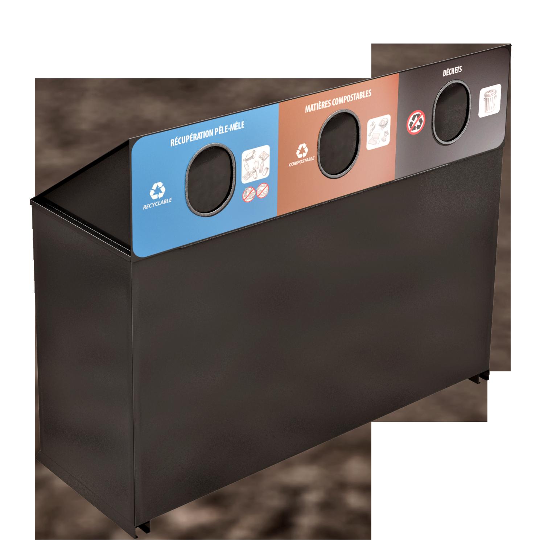 Public Waste Sorting Station 3 streams