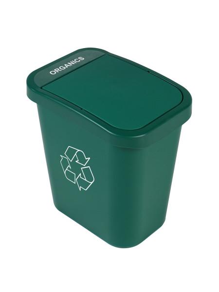 Corbeille verte avec couvercle plein spéciale consigne Billibox, Busch Systems - NI Produits