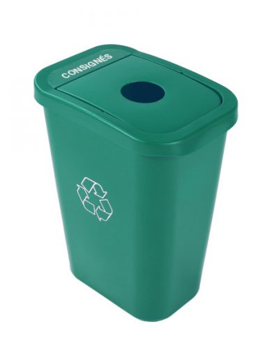 Corbeille verte avec couvercle pour bouteilles et contenants consignés Billibox, Busch Systems - NI Produits