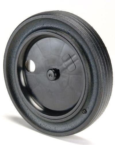 Roue résistante en caoutchouc pour bac roulant ClassicCart IPL 360L - vue arrière