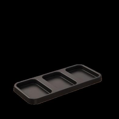 Mobilia base 3 cavities for 26 & 58 liters bins black