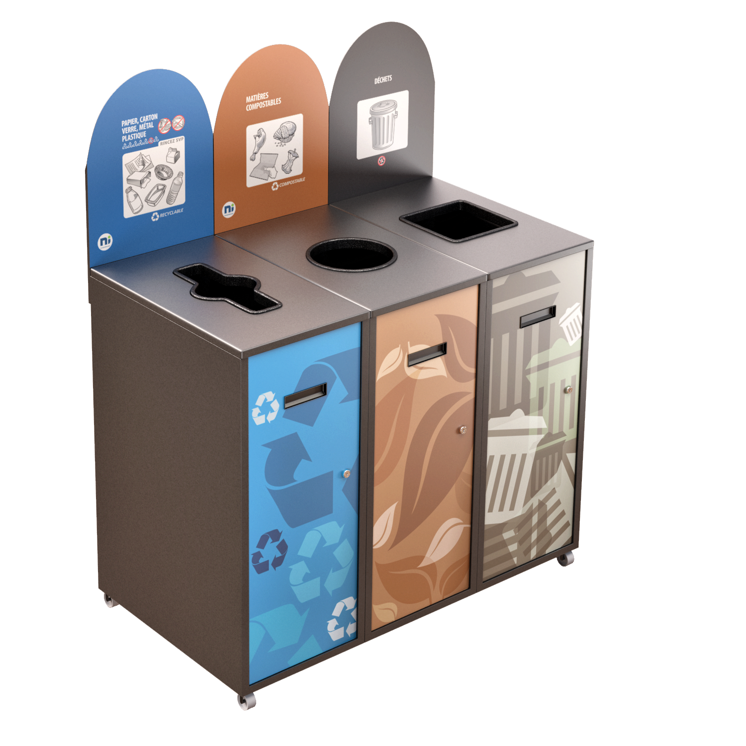 Recycling Station MultiPlus 3 x 87 Liters