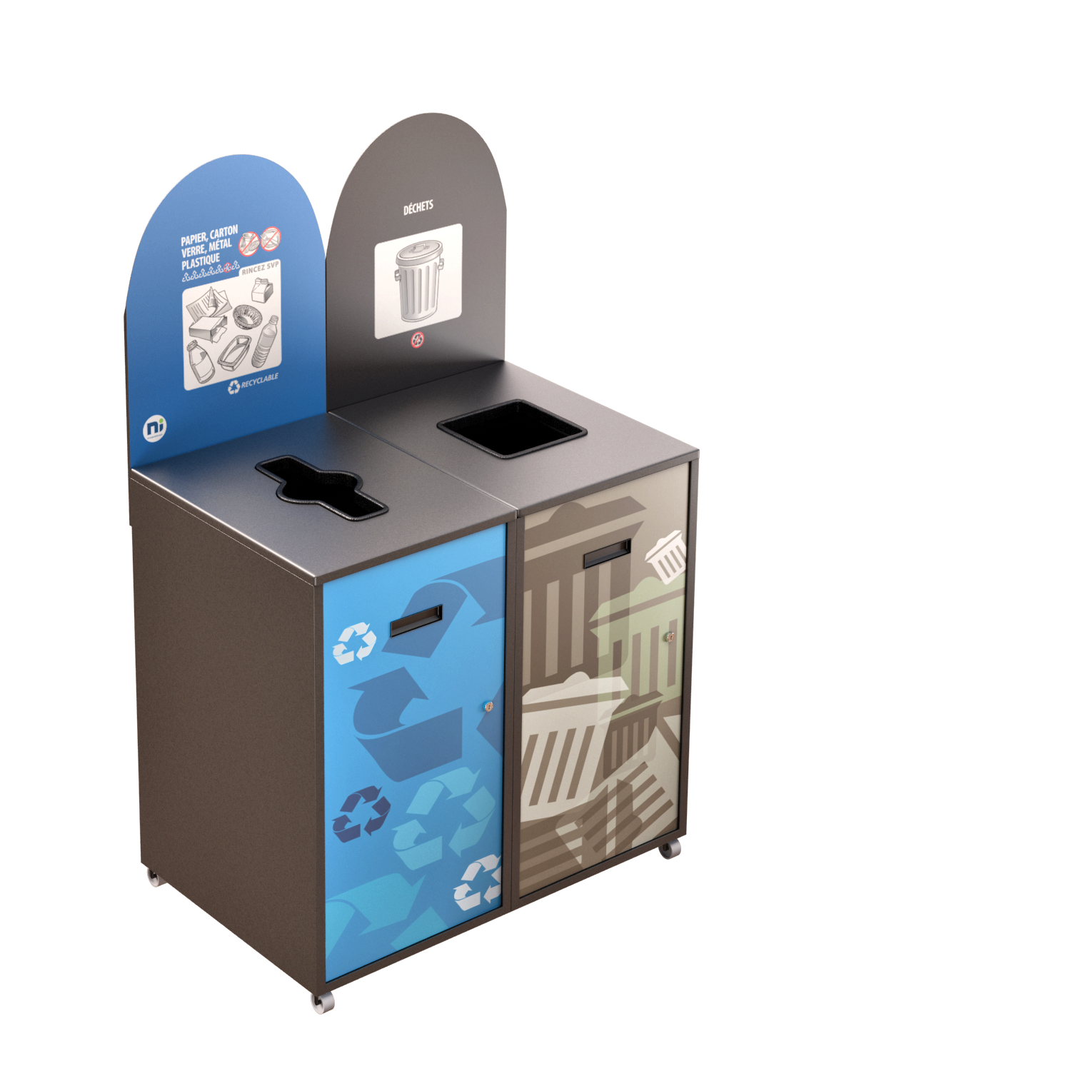Recycling Station MultiPlus 2 x 120 Liters