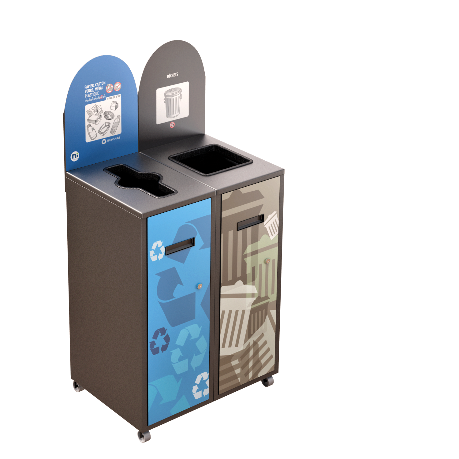 Recycling Station MultiPlus 2 x 58 Liters
