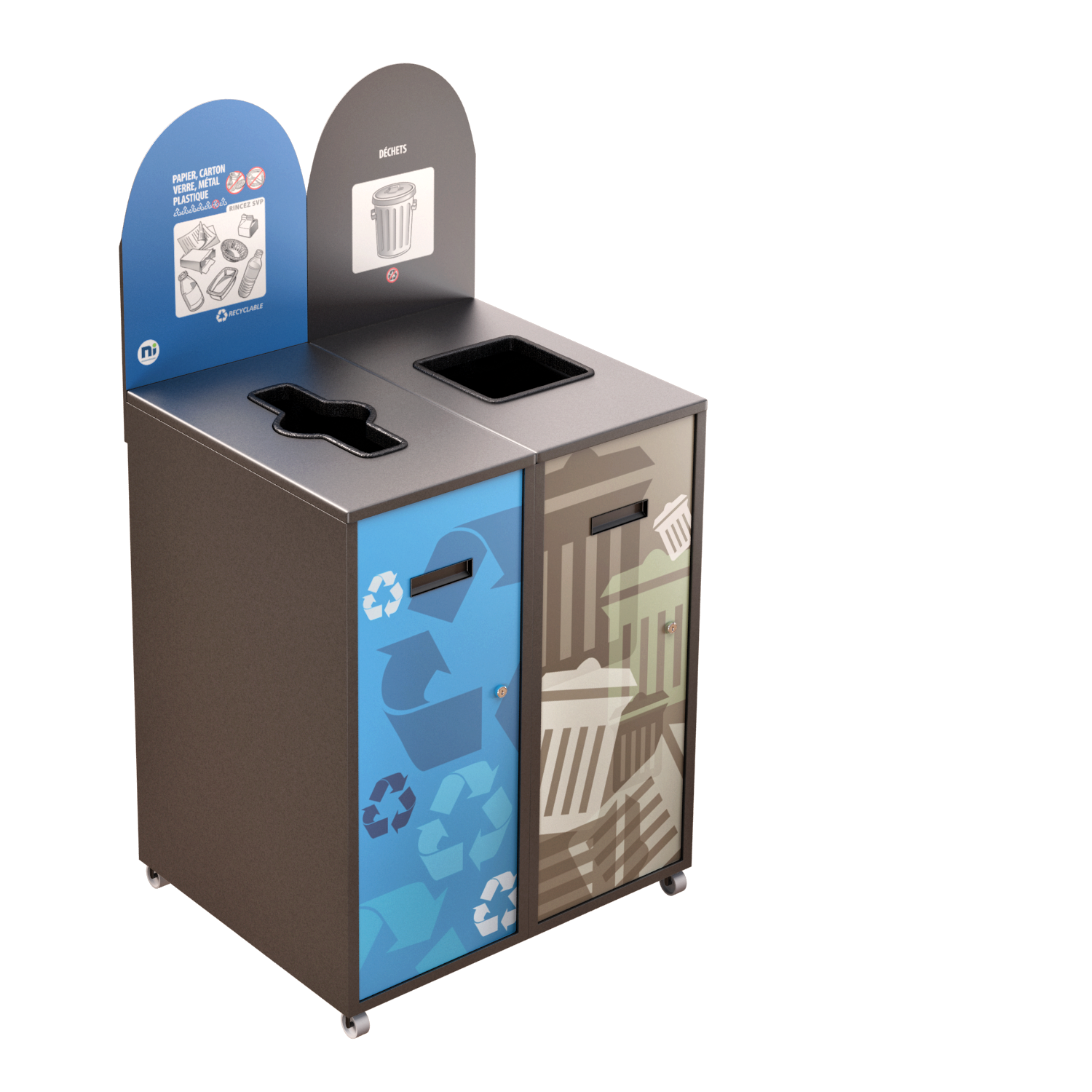 Recycling Station MultiPlus 2 x 87 Liters