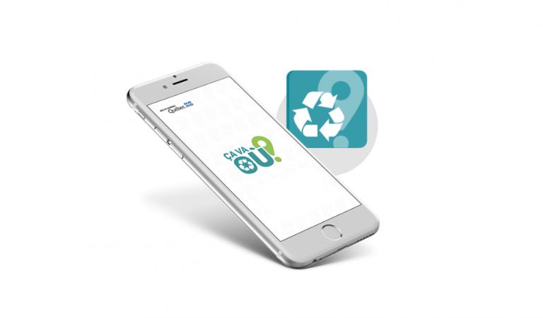 Recyc-Québec lance l'application mobile Ça va Où ?