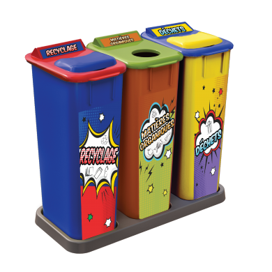 NI Products - Recycling Center Pop Art 3 x 58 Liters