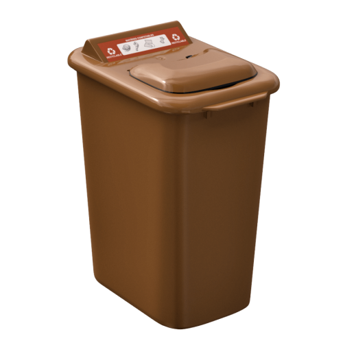 NI Products - Mobilia Organic matter Bin 26 liters brown
