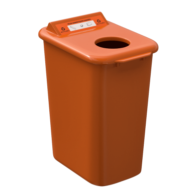 NI Products - Mobilia Used Batteries Bin 26 liters orange