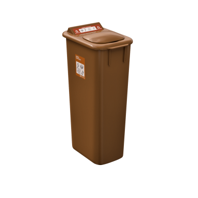NI Products - Mobilia Organic matter Bin 58 liters brown