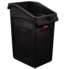 NI Products - Slim Jim Under Counter Container 87 Liters with Venting Channels black