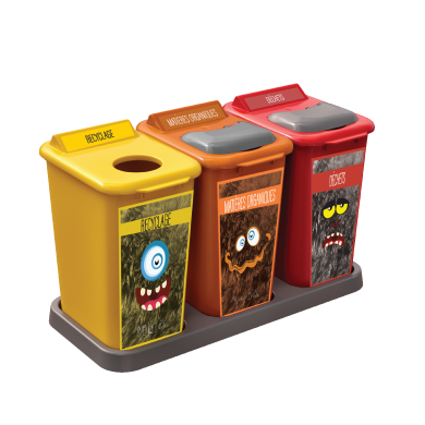 NI Products - Recycling Station Monster 3 x 26 Liters