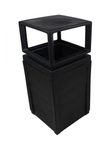 Outdoor Garbage Unit Evolve Canopy Black NI Products
