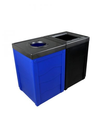 NI Products - Black & Blue Sorting Unit Evolve Double Cube with Full and Round Opening