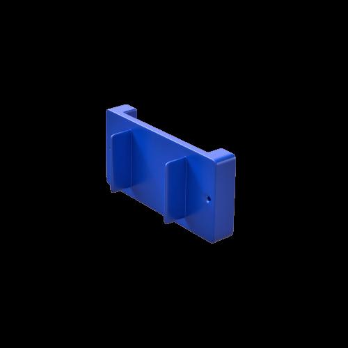 NI Produits - Support mural bleu pour petite poubelle TriSource 4 litres