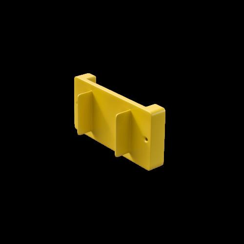 NI Produits - Support mural jaune pour petite poubelle TriSource 4 litres