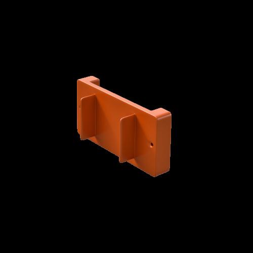 NI Produits - Support mural orange pour petite poubelle TriSource 4 litres