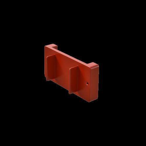 NI Produits - Support mural rouge pour petite poubelle TriSource 4 litres