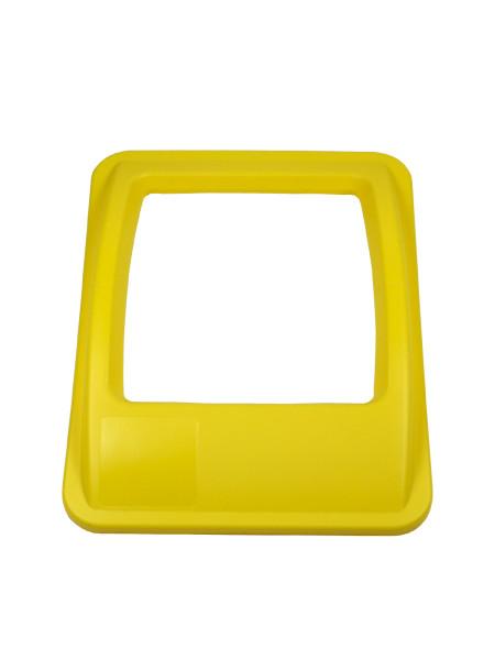 NI Produits - Couvercle Jaune pour Waste Watcher 102 ou 121 Litres avec Ouverture Carré