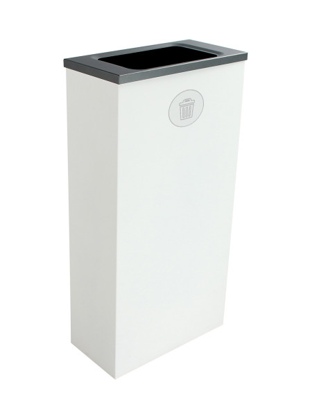 NI Produits - Compartiment de Tri Blanc pour Matières Résiduelles Spectrum Cube Slim avec ouverture Plein