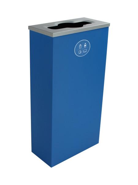 NI Produits - Compartiment de Tri Bleu pour Matières Résiduelles Spectrum Cube Slim avec ouverture Pêle-Mêle