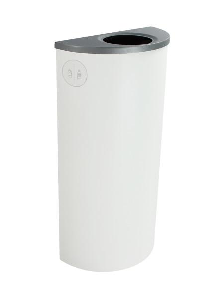 NI Produits - Corbeille Blanche de Tri pour la Récupération Spectrum Ellipse Slim avec ouverture Ronde