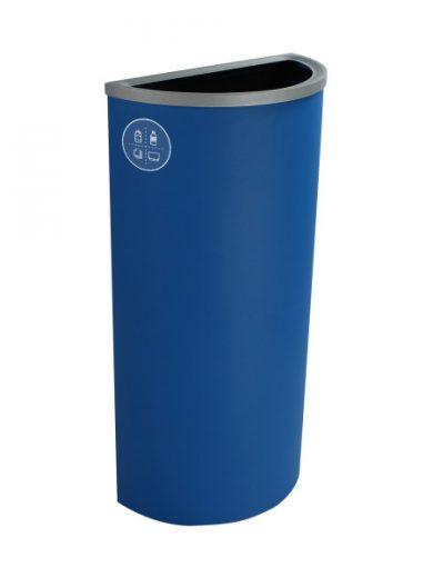 NI Produits - Corbeille Bleue de Tri pour la Récupération Spectrum Ellipse Slim avec ouverture Pleine