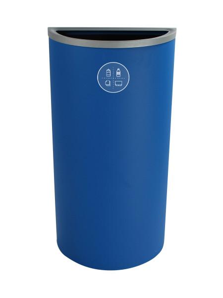 NI Produits - Corbeille Bleue de Tri pour la Récupération Spectrum Ellipse Slim avec ouverture Pleine 2
