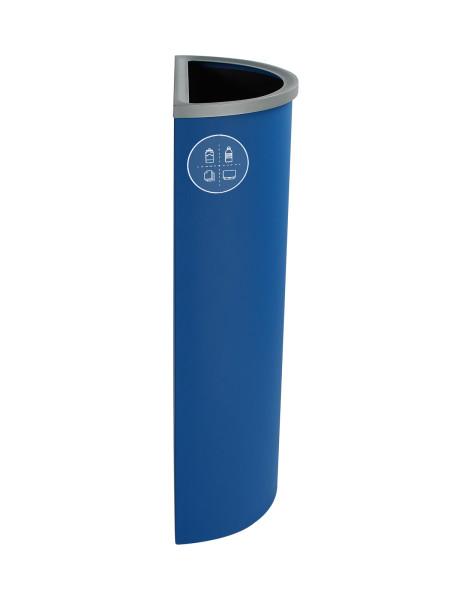 NI Produits - Corbeille Bleue de Tri pour la Récupération Spectrum Ellipse Slim avec ouverture Pleine 3