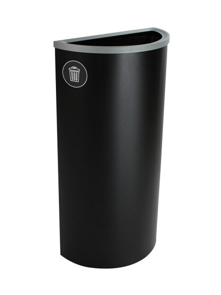 NI Produits - Corbeille Noire de Tri pour la Récupération Spectrum Ellipse Slim avec ouverture Pleine