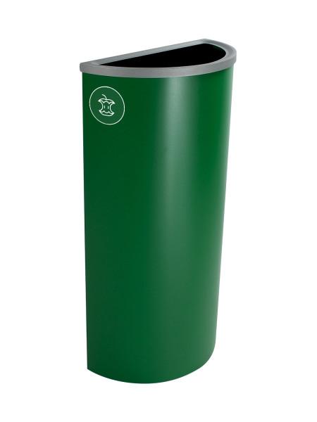 NI Produits - Corbeille Verte de Tri pour la Récupération Spectrum Ellipse Slim avec ouverture Pleine