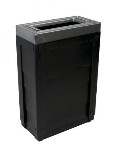 NI Produits - Corbeille Noire de tri sélectif Evolve Cube Slim
