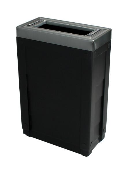 NI Produits - Corbeille Noire de tri sélectif Evolve Cube Slim 2