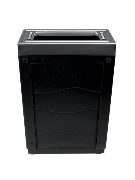 NI Produits - Corbeille Noire de tri sélectif Evolve Cube Slim 3
