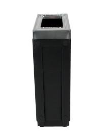 NI Produits - Corbeille Noire de tri sélectif Evolve Cube Slim 4