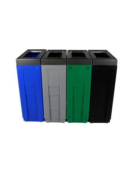 NI Produits - Corbeille de tri sélectif Evolve Cube Slim 4 voies 2