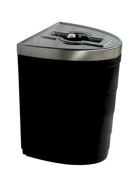 NI Products -Black Evolve Single Ellipse Bin with Mixed Opening