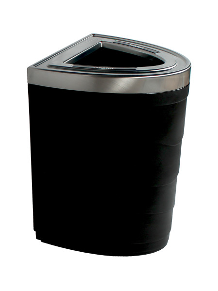 NI Products -Black Evolve Single Ellipse Bin with Full Opening
