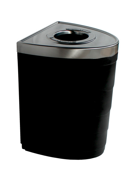 NI Products -Black Evolve Single Ellipse Bin with Circle Opening