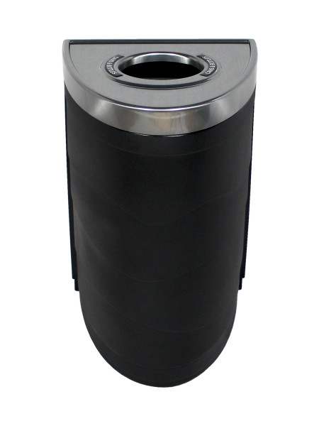NI Products -Black Evolve Single Ellipse Bin with Circle Opening 3