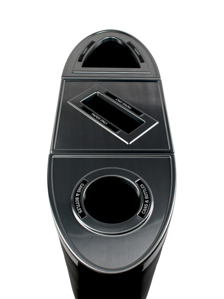 NI Products - Black Sorting Station Evolve Ellipse Triple Circle, Slot and Full Openning 3
