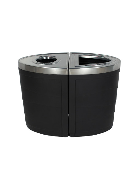 NI Products - Black Sorting Unit Evolve Double Ellipse with Full and Round Opening 3