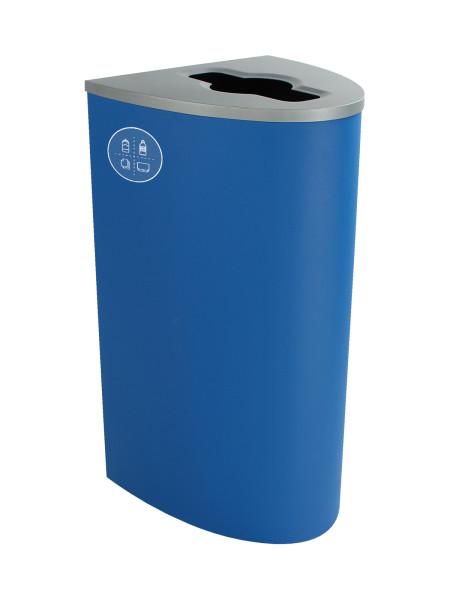 NI Produits - Poubelle Bleue pour le Tri Sélectif Spectrum Ellipse avec ouverture Pêle-Mêle