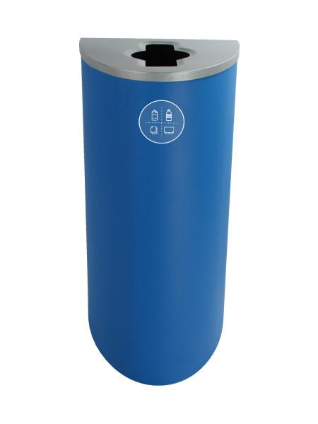 NI Produits - Poubelle Bleue pour le Tri Sélectif Spectrum Ellipse avec ouverture Pêle-Mêle 2