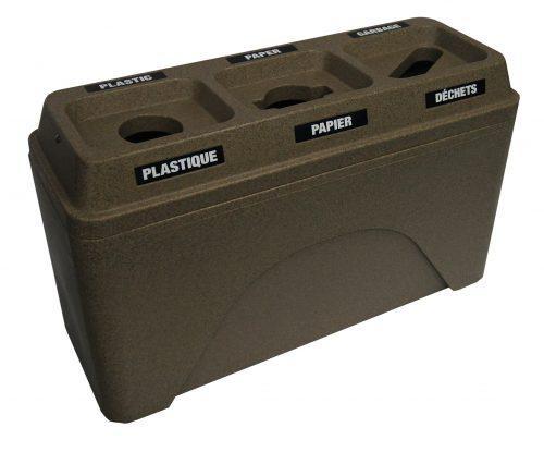 NI Produits - Poubelle Compartiment Tri Bullseye Twin Granite Sable