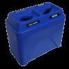 NI Produits - Poubelle Compartiment Tri Bullseye Twin Bleu
