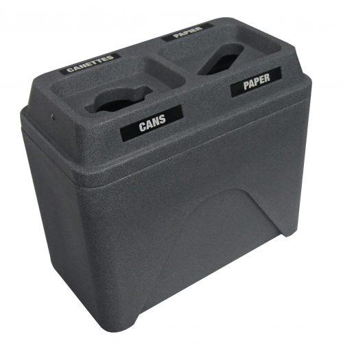 NI Produits - Poubelle Compartiment Tri Bullseye Twin Granite Gris