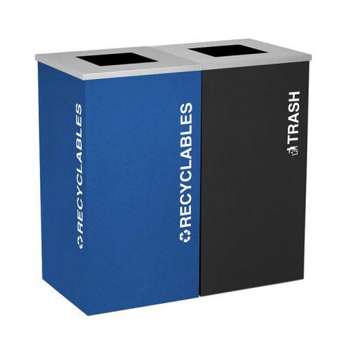 NI Produits - Îlot de récupération Kaleidosope 2 voies Bleu et Noir