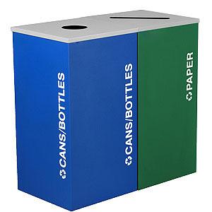 NI Produits - Îlot de récupération Kaleidosope 2 voies Bleu et Vert